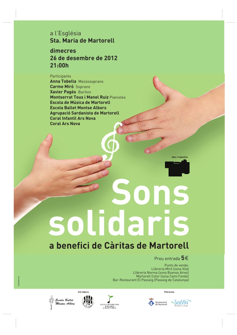 "Cartell concert ""Sons Solidaris"""